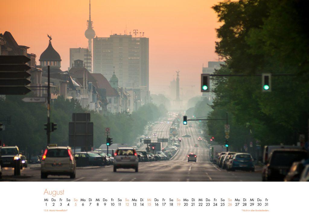 Der Charlottenburg-Kalender 2018 – August