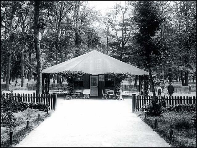Erfrischungshalle in der Jungfernheide um 1925